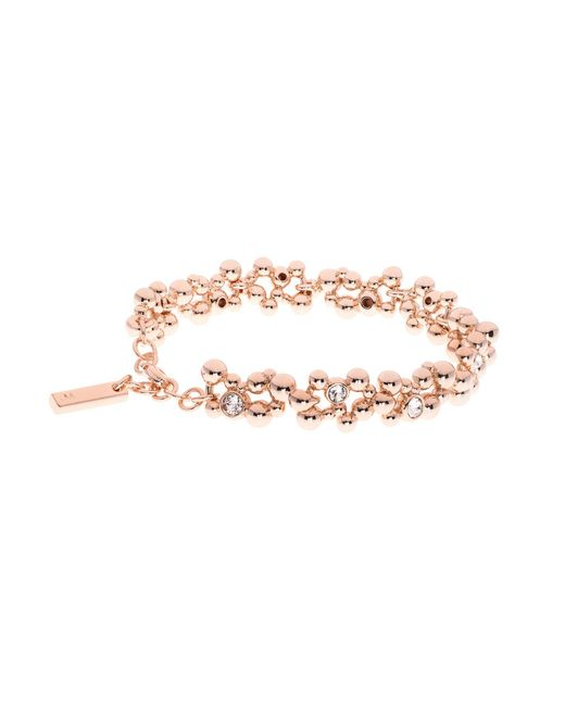 Karen Millen | Metallic Evolution Rose Gold Crystal Bracelet | Lyst