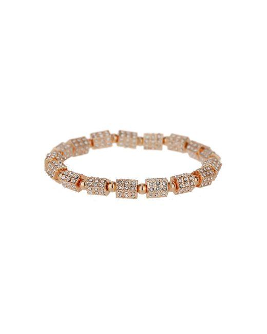 Mikey - Metallic London Small Cylinder Crystal Bead Bracelet - Lyst