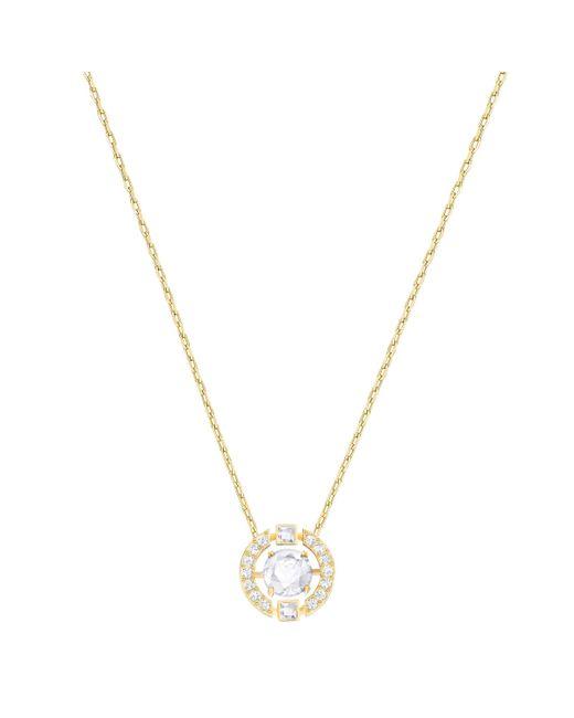 Swarovski - Metallic Sparking Necklace - Lyst