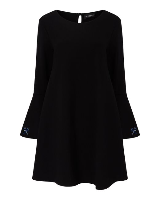 James Lakeland - Black Embroidered Cuff Dress - Lyst