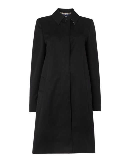 Aquascutum | Black Dulwich Raincoat | Lyst