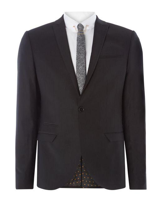 Label Lab | Black Rutherford Plain Skinny Waistcoat for Men | Lyst