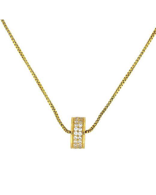 Azendi - Metallic Gold Vermeil Pavé Slider Pendant - Lyst