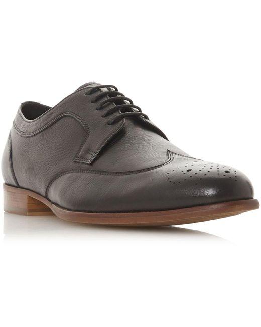 Dune Black Sudburys Punched Detail Derby Shoes for men