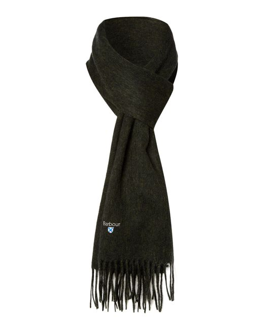 Barbour | Natural Plain Lambswool Scarf for Men | Lyst