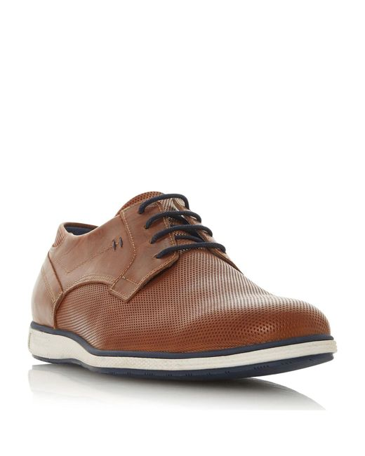 Dune Brown Men's 'bamfield' Perforated Derby Shoes for men