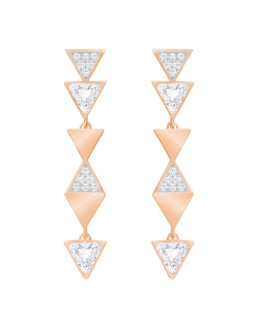 Swarovski - White Heroism Pierced Earrings - Lyst