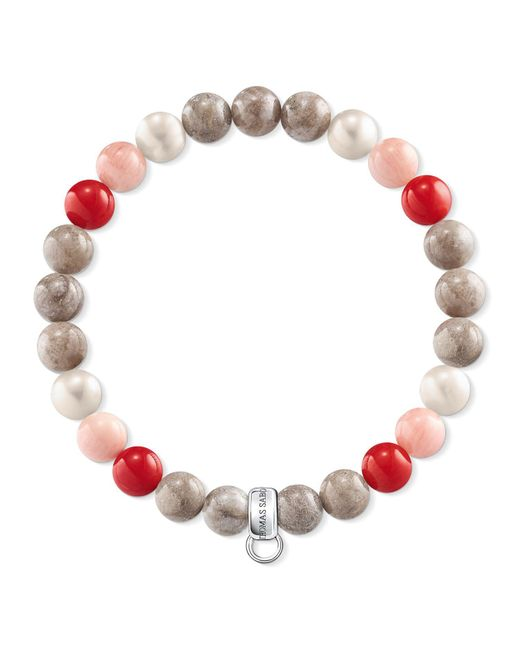 Thomas Sabo | Red Charm Club Multi-colour Charm Bracelet | Lyst