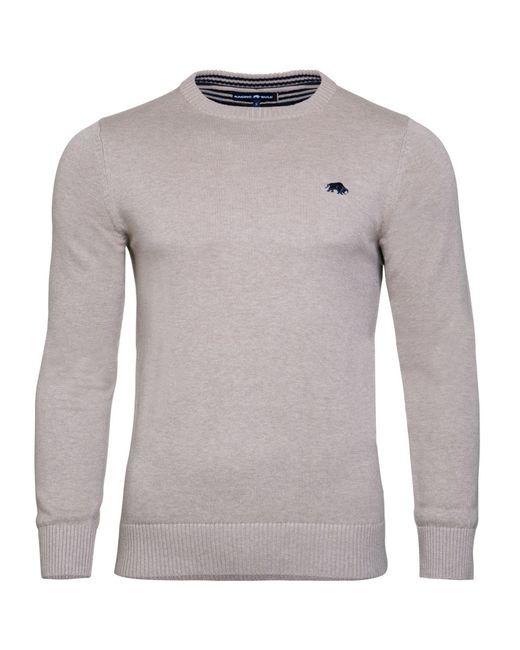 Raging Bull | White Men's Cotton/cashmere Crew Neck for Men | Lyst