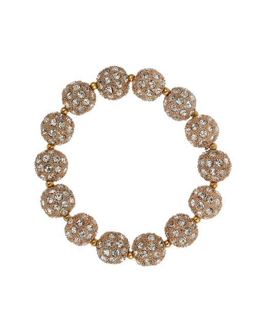 Mikey - Metallic Crystal Heavy Bracelet - Lyst