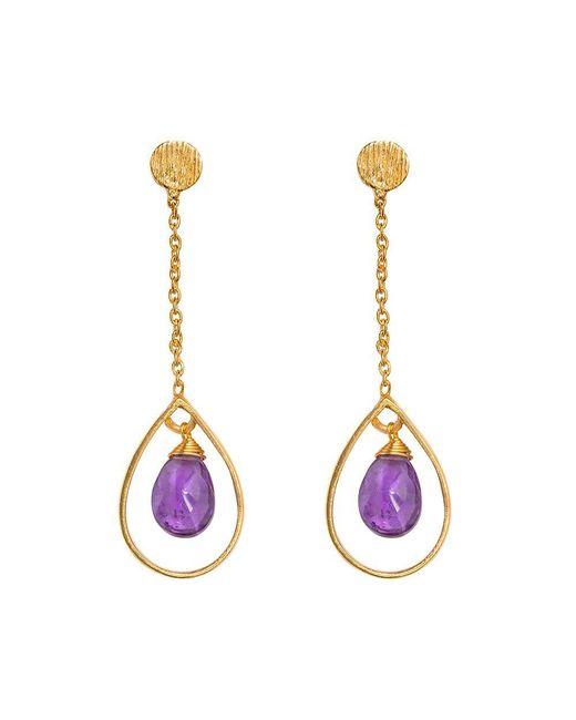 Juvi Designs | Metallic Gold Vermeil Boho Swing Me Earring | Lyst