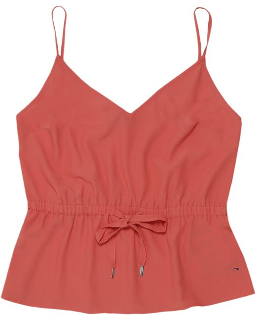 Tommy Hilfiger - Red Tommy Jeans Essential Strap Top - Lyst