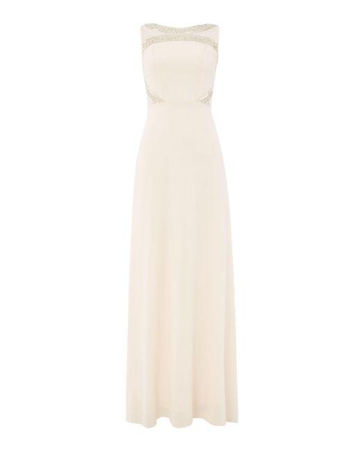 TFNC London - Natural Embellished Top Maxid Dress - Lyst