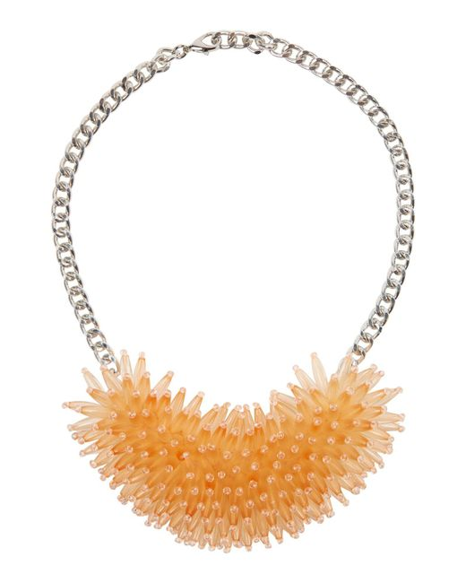 Marella - Brown Max Oversized Beaded Necklace Cipria - Lyst