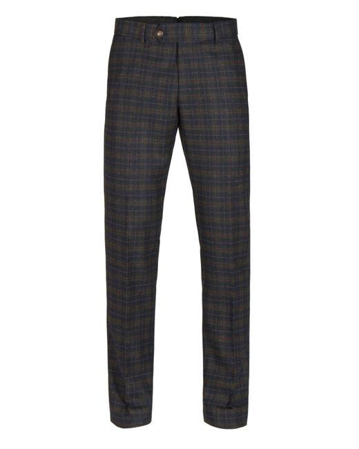 Gibson - Blue Men's Navy Tartan Check Trouser for Men - Lyst