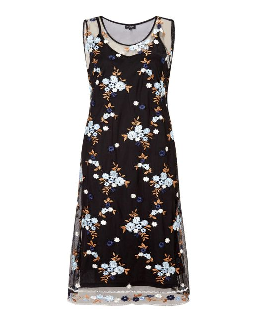 James Lakeland | Blue Embroidered Midi Dress | Lyst