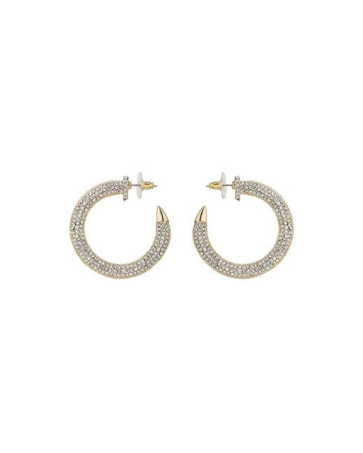 Mikey | Metallic Crystal Embed Half Crescent Earring | Lyst