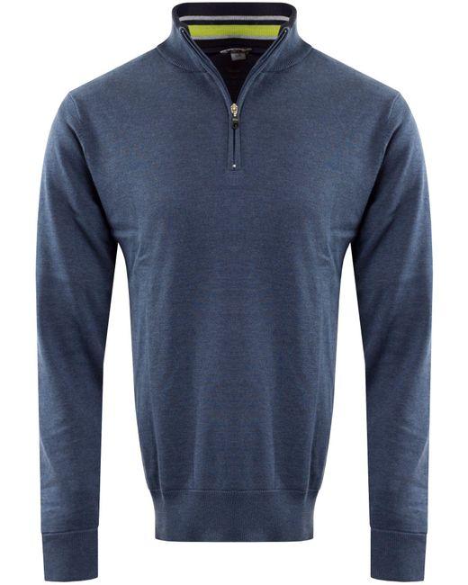 Cutter Buck Mens Classic Lined Windblock Sweater In Blue For Men