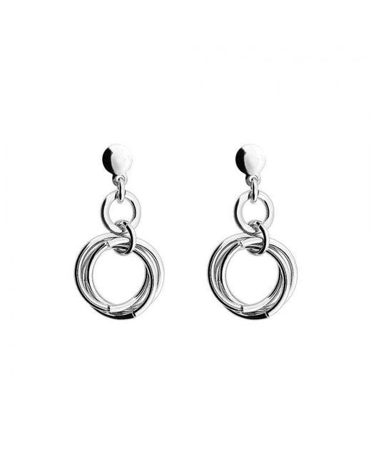 Azendi | Metallic Silver Love Knot Drop Earring | Lyst
