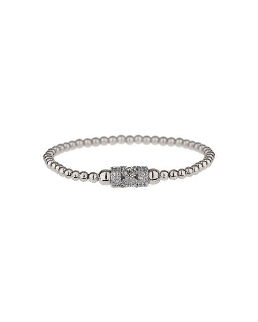 Mikey - Metallic Fine Cubic Filigre Tube Elastic Bracelet - Lyst