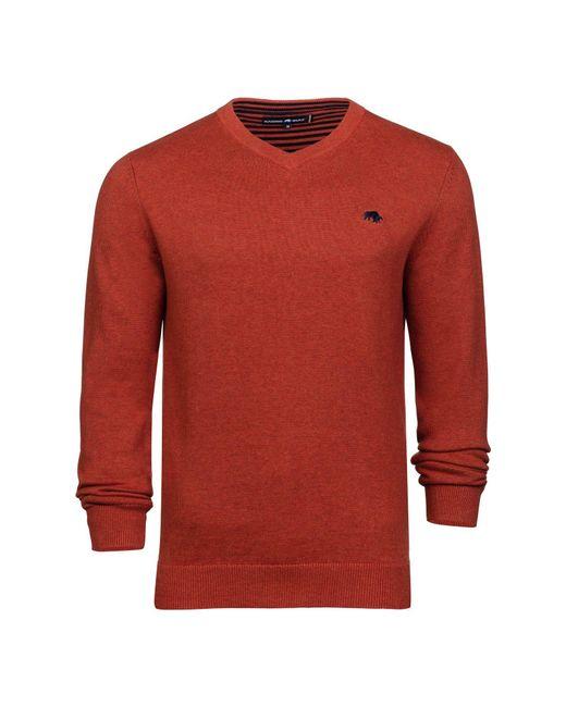 Raging Bull | Orange Men's V-neck Cottcash Sweater for Men | Lyst