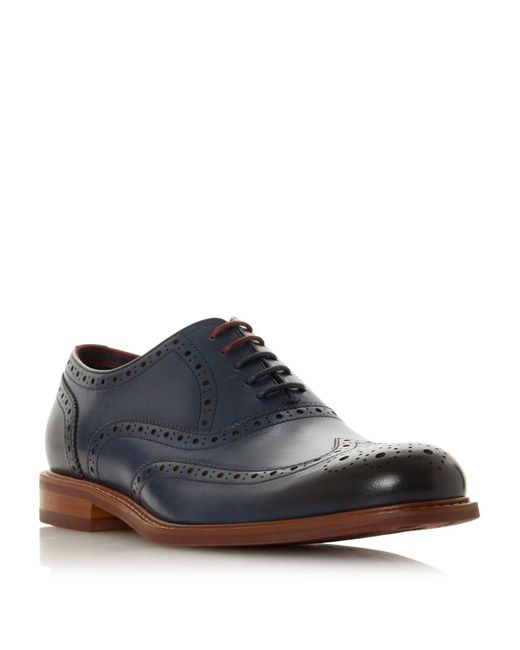 Dune Blue Pollodium Coloured Sole Brogues for men