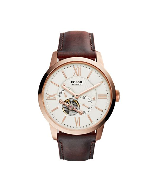 Fossil - Brown Me3105 Mens Strap Watch for Men - Lyst