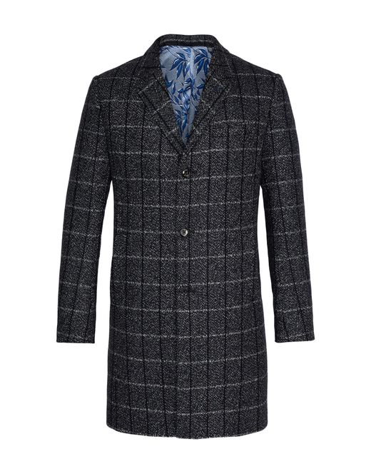 Ted Baker - Multicolor Men's Ando Checked Wool Overcoat for Men - Lyst