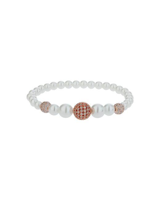 Mikey | Metallic Multi Shiny 12 Cubic Ball Pearl Bracelet | Lyst
