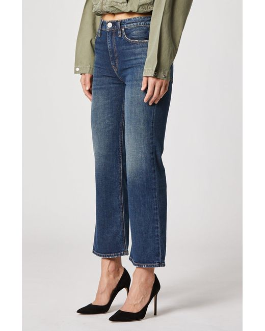 Hudson Jeans Womens Rival Seamed High Rise Stratight 5 Pocket Jean
