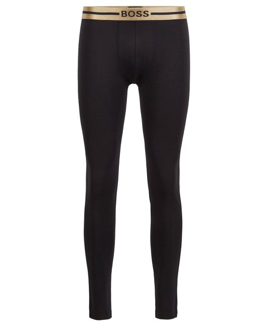 BOSS by Hugo Boss Metallic Long Johns In Stretch Bamboo-viscose With Logo Waistband for men
