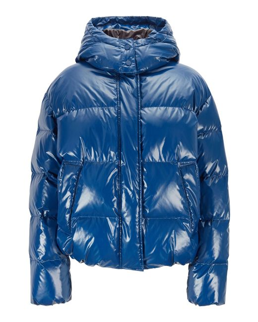 BOSS Blue Regular-fit Water-repellent Down Coat In Glossy Fabric