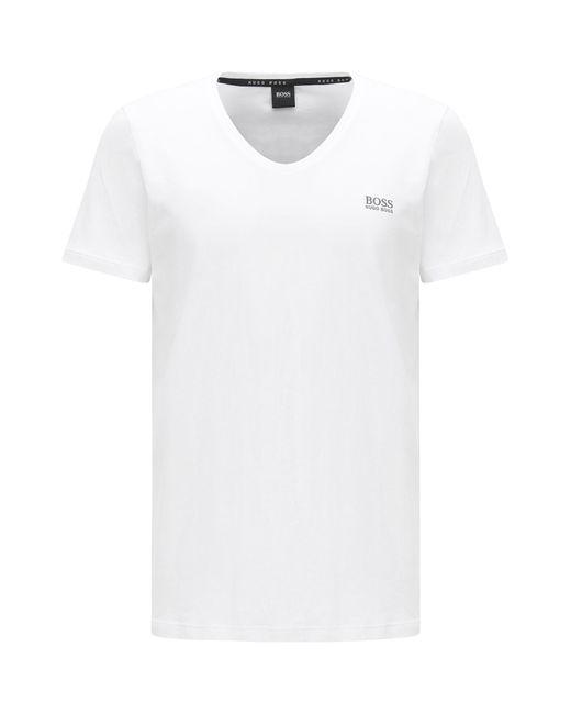 BOSS - White Loungewear T-shirt In Single Jersey for Men - Lyst