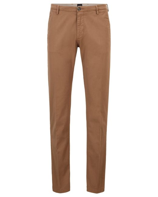BOSS by Hugo Boss Natural Slim Fit Chinos In Stretch Cotton Gabardine for men