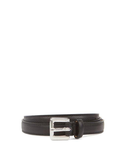 BOSS Black Slim Belt In Grained Italian Leather