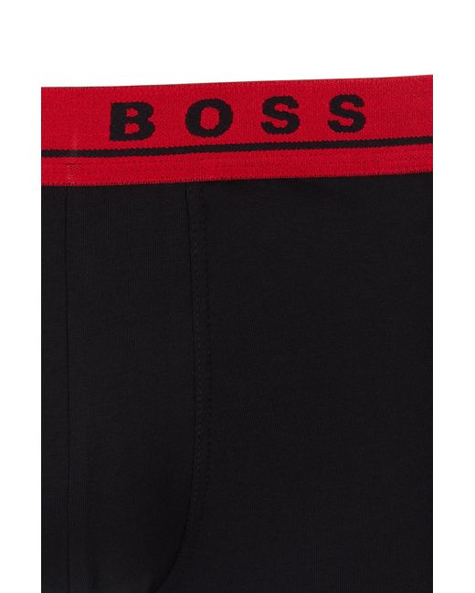BOSS by Hugo Boss Multicolor Three-pack Of Stretch-cotton Trunks With Logo Waistbands for men