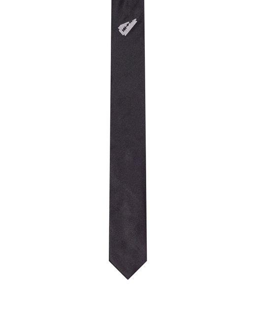 HUGO - Black Printed Italian Silk Slim Tie for Men - Lyst
