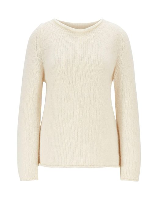 BOSS Natural Alpaca-blend Sweater With Rolled Neckline