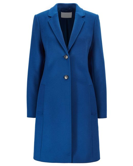 BOSS Blue Regular-fit Wool And Cashmere Coat