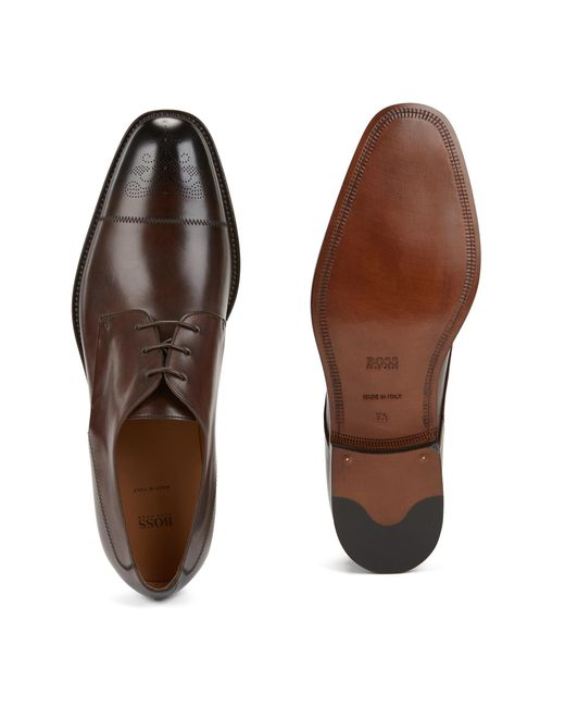 Derby shoes in printed calf leather HUGO BOSS 3d6ie