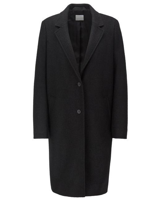 BOSS by Hugo Boss Black Regular-fit Blazer-style Coat In Boiled Wool