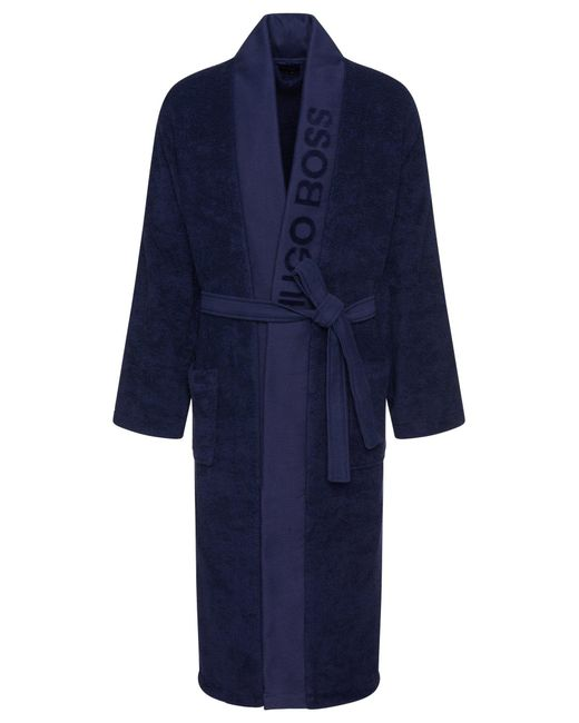 BOSS Blue Unisex Dressing Gown In Egyptian Cotton for men