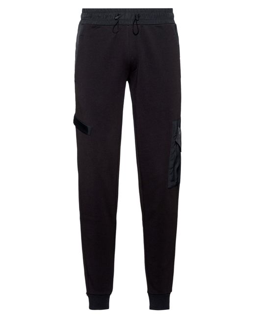 HUGO Black Relaxed-fit jogging Pants In French Terry With Technical Trims for men