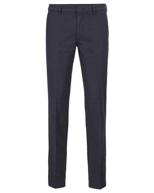 BOSS Blue Slim-fit Chinos In Italian Stretch Cotton for men
