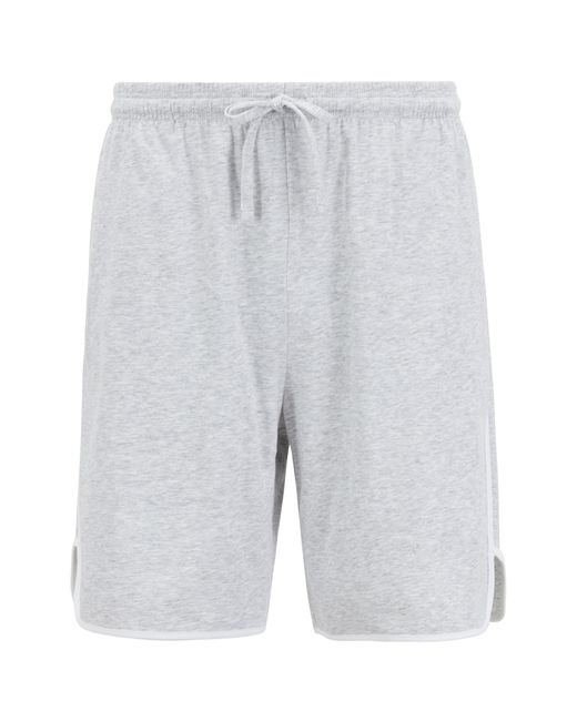 BOSS - Gray Loungewear Shorts In Stretch Cotton With Contrast Piping for Men - Lyst