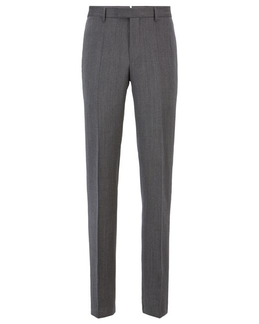 0f5f40919 BOSS - Metallic Tailored Slim-fit Trousers In Melange Virgin Wool for Men -  Lyst ...