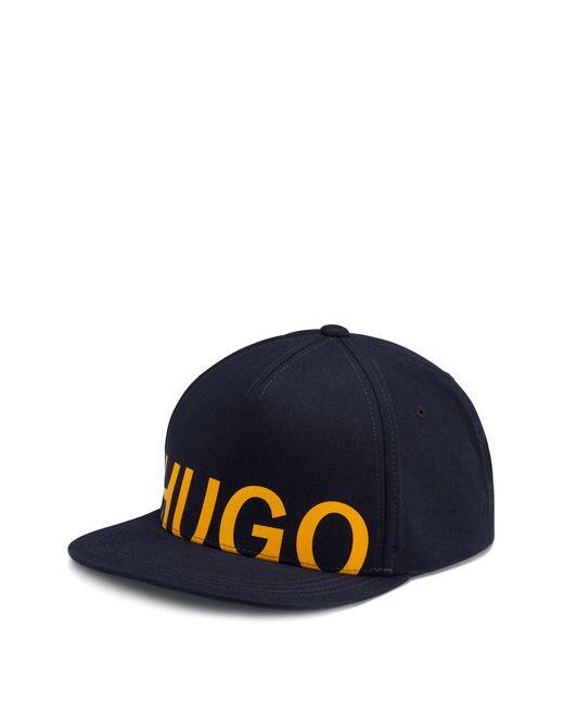 HUGO Blue Contrast Logo Cap In Cotton Twill for men