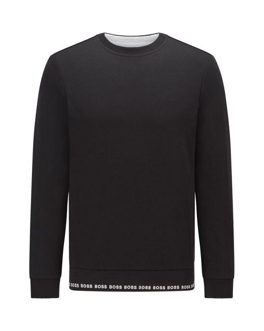 Sweat Slim Fit avec logo brodé BOSS by Hugo Boss pour homme en coloris Black