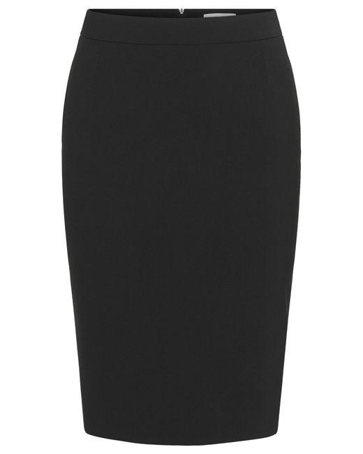 BOSS - Black Stretch Virgin Wool Pencil Skirt   Vilea - Lyst
