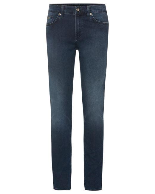 BOSS | Blue Slim-fit Jeans In Cotton Blend: 'delaware3' for Men | Lyst